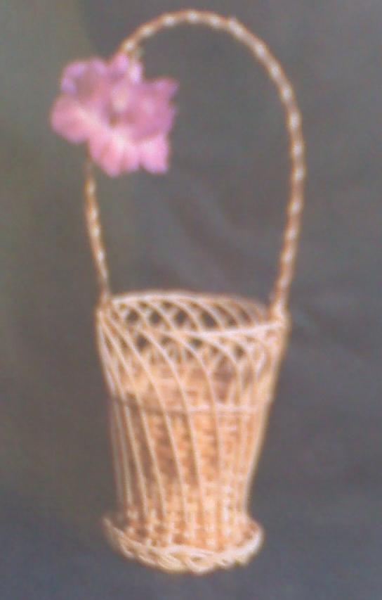 Настольная корзина с плетёной ручкой