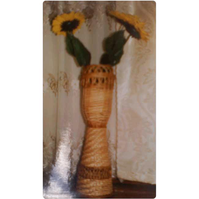 Ваза плетёная напольная двухярусная
